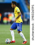 ������, ������: Neymar of Brazil kicks