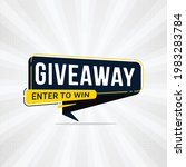 giveaway and enter to win... | Shutterstock .eps vector #1983283784