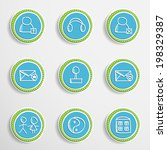 set of universal buttons with... | Shutterstock .eps vector #198329387