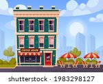 coffee house with outdoor...   Shutterstock .eps vector #1983298127