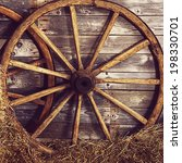 The Old Wooden Wheel On A Hay