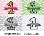 number one and the winner first ... | Shutterstock .eps vector #198332681