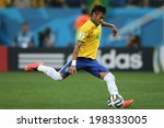 Постер, плакат: Neymar of Brazil takes
