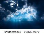Stormy Dark Blue Sky With A...