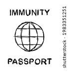 covid 19 immunity passport...   Shutterstock .eps vector #1983351251