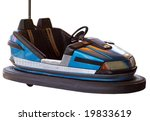 Blue Bumper Car Isolated With...