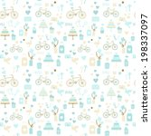 seamless wedding pattern in... | Shutterstock .eps vector #198337097