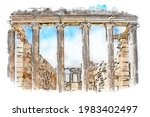 Ionic Columns Of The Erechtheum ...
