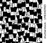 a seamless pattern with house | Shutterstock .eps vector #198340985