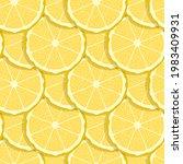 lemon fruits seamless pattern....   Shutterstock .eps vector #1983409931