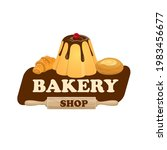 bakery shop icon with pastry...   Shutterstock .eps vector #1983456677