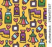 kawaii cartoon doodle seamless... | Shutterstock .eps vector #1983457337