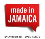 made in jamaica red  3d... | Shutterstock .eps vector #198346571