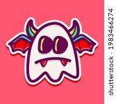 cute monster cartoon doodle... | Shutterstock .eps vector #1983466274