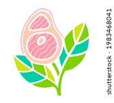 plant based meat concept. vegan ...   Shutterstock .eps vector #1983468041