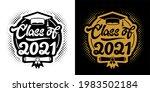 lettering class of 2021 for...   Shutterstock .eps vector #1983502184