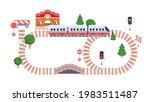 toy railway track model  kids... | Shutterstock .eps vector #1983511487