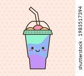 vector slush drink isolated... | Shutterstock .eps vector #1983517394