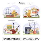 tobacco production industry...   Shutterstock .eps vector #1983528197
