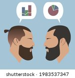 silhouettes. portraits.... | Shutterstock .eps vector #1983537347