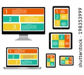 responsive pc. seo optimization ... | Shutterstock .eps vector #198353999