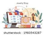 jewelry shop concept. precious... | Shutterstock .eps vector #1983543287