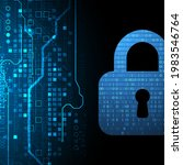 personal data security... | Shutterstock .eps vector #1983546764