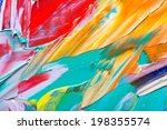 abstract art background. hand... | Shutterstock . vector #198355574