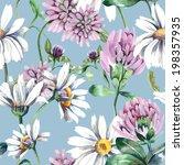 summer flowers seamless pattern | Shutterstock . vector #198357935