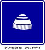 beanie knit cap sign   Shutterstock .eps vector #198359945
