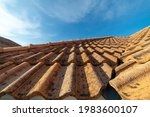 Close Up Of Brown Clay Roof...