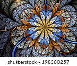colorful fractal flower ... | Shutterstock . vector #198360257