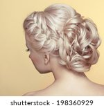 Постер, плакат: Beauty wedding hairstyle Bride