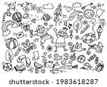 vector illustration of doodle...   Shutterstock .eps vector #1983618287