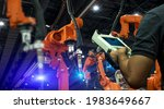 heavy automation robot arm...   Shutterstock . vector #1983649667