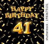 golden number forty metallic... | Shutterstock .eps vector #1983675131