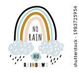 no rain no rainbows quote... | Shutterstock .eps vector #1983725954