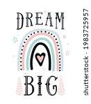 dream big quote vector... | Shutterstock .eps vector #1983725957