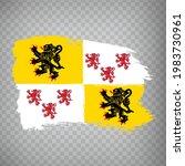 flag of hauts de france brush...