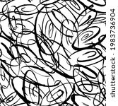 chaos seamless pattern  tangled ...   Shutterstock .eps vector #1983736904