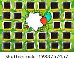 comic photo frame for group... | Shutterstock .eps vector #1983757457