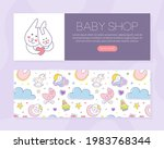 cute baby care poster template...   Shutterstock .eps vector #1983768344