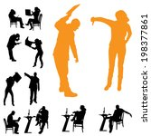 vector silhouettes of business... | Shutterstock .eps vector #198377861
