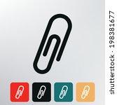 paper clip icon.  | Shutterstock .eps vector #198381677