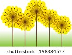Color Vector Dandelions