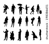 vector silhouettes of business... | Shutterstock .eps vector #198386651
