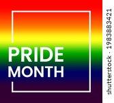 pride month lettering... | Shutterstock .eps vector #1983883421