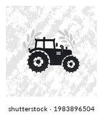 tractor simple design vector... | Shutterstock .eps vector #1983896504