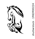 Rearing Up Horse Vector...
