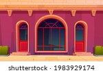 store front with glass doors... | Shutterstock .eps vector #1983929174